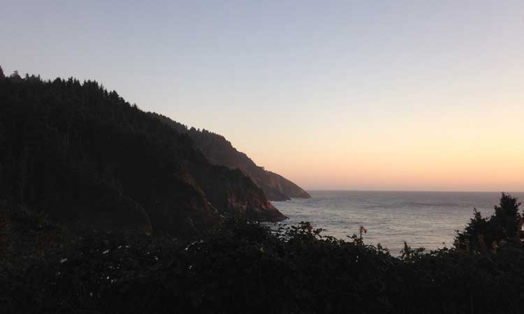 View from the Heceta Lighthouse B&B
