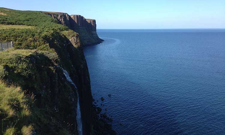 Kilt Rock in the Highlands of Scotland