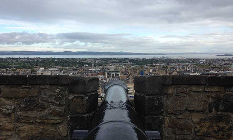 Edinburgh from the castle's battlements